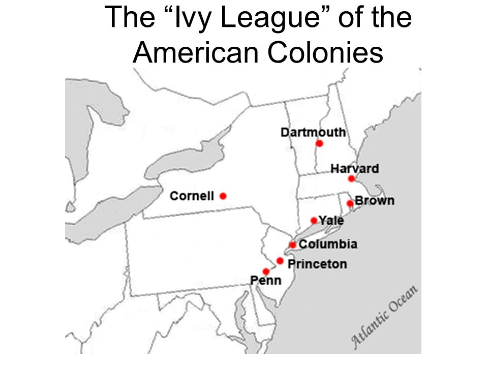 The Ivy League of the American Colonies