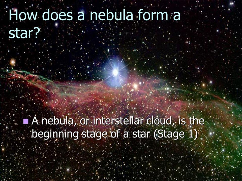 How does a nebula form a star.