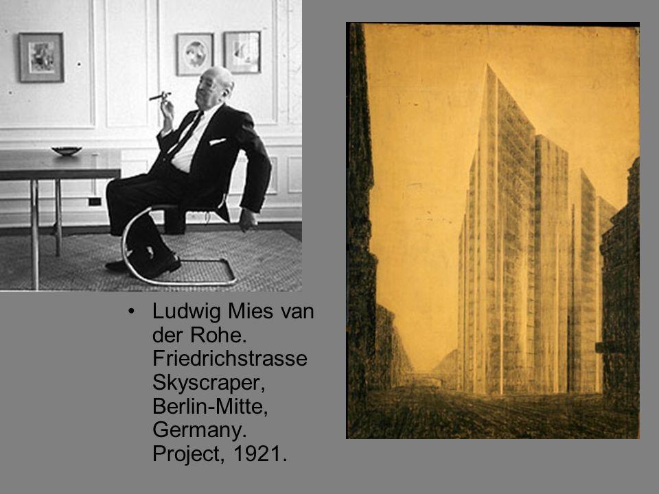 Ludwig Mies van der Rohe. Friedrichstrasse Skyscraper, Berlin-Mitte, Germany. Project, 1921.