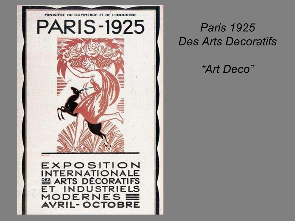 Paris 1925 Des Arts Decoratifs Art Deco