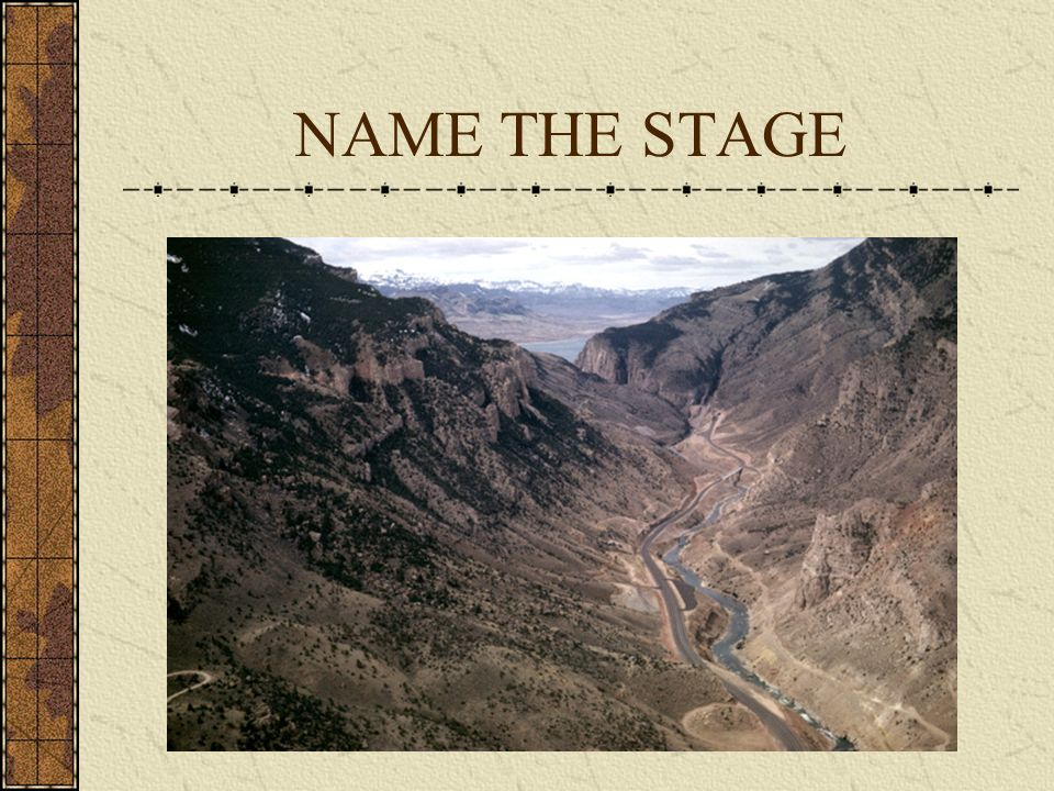 NAME THE STAGE