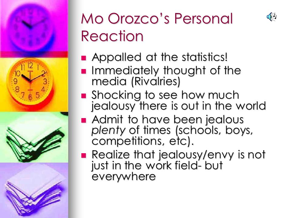 Mo Orozcos Personal Reaction Appalled at the statistics.