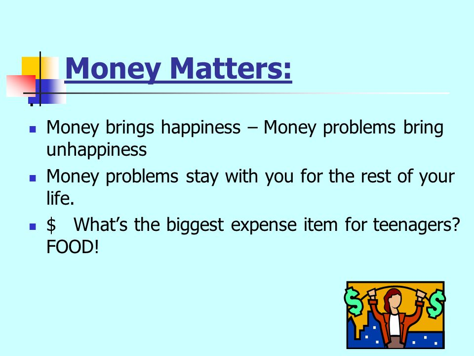 Some Money Facts $ The average person spends money three times a day.