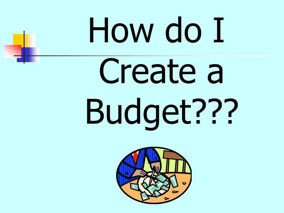 How do I Create a Budget???