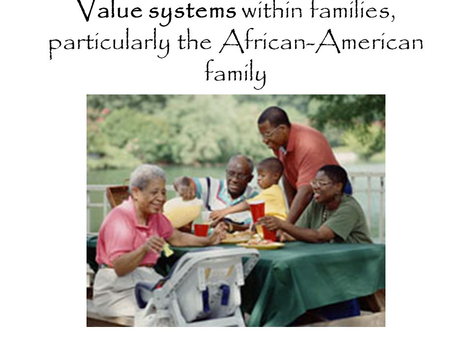 Value systems within families, particularly the African-American family