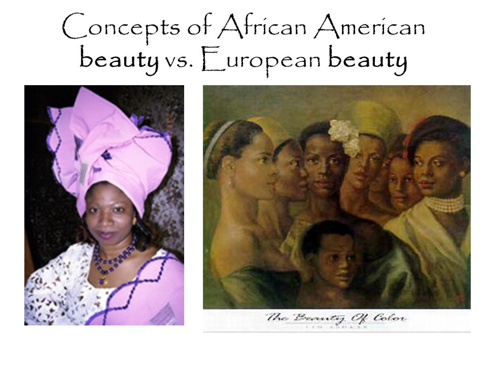 Concepts of African American beauty vs. European beauty
