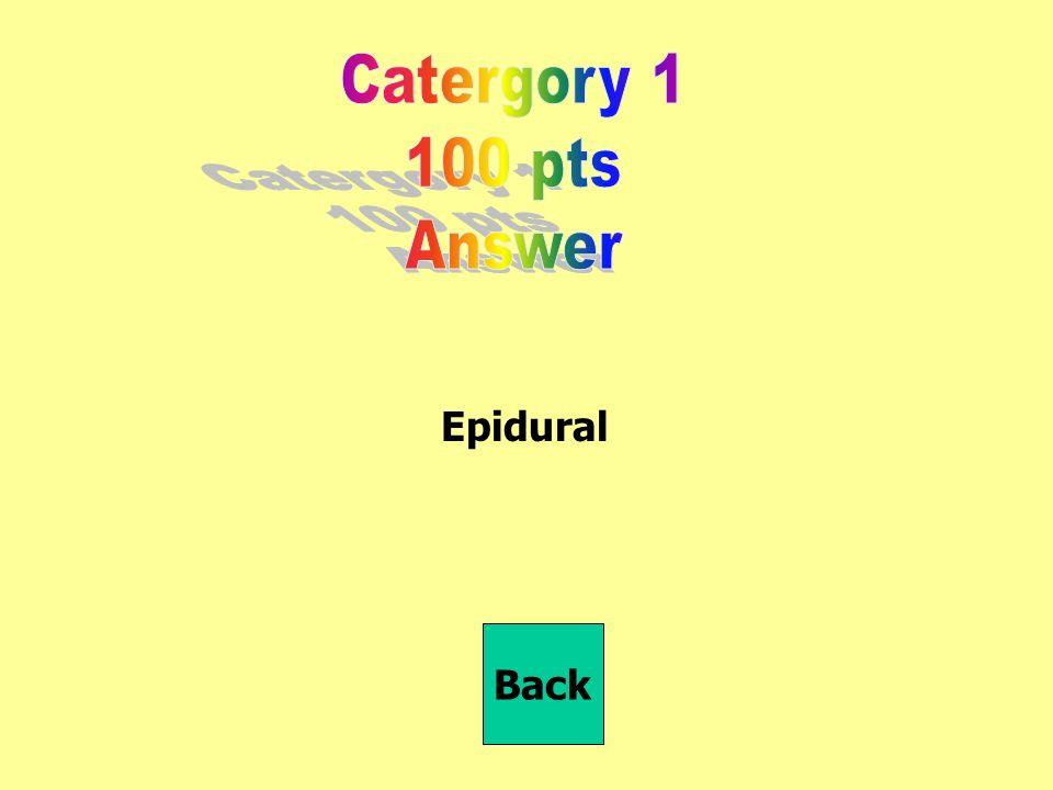 Epidural Back