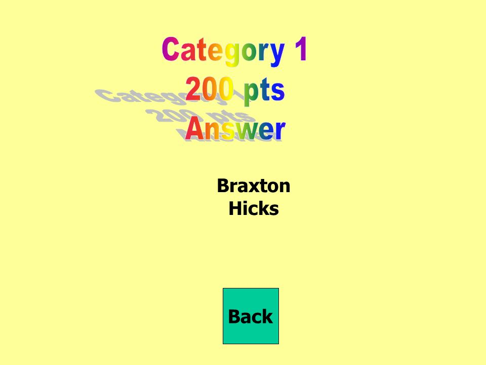 Braxton Hicks Back