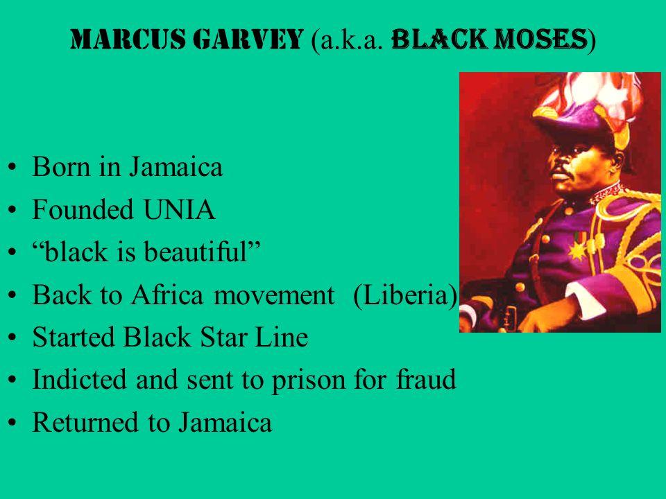 Marcus Garvey (a.k.a.
