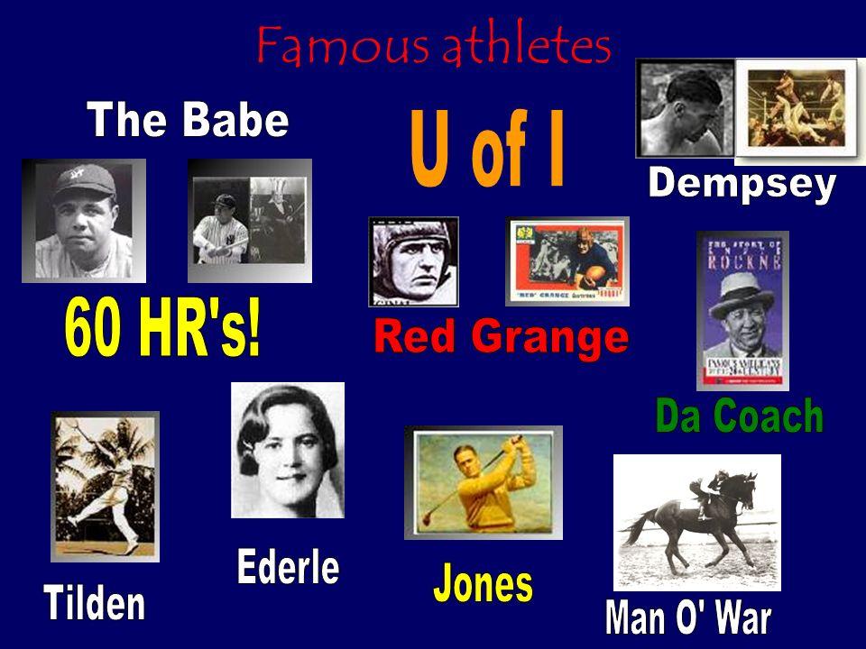 Famous athletes