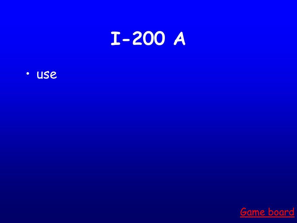 I-100 A nice Game board
