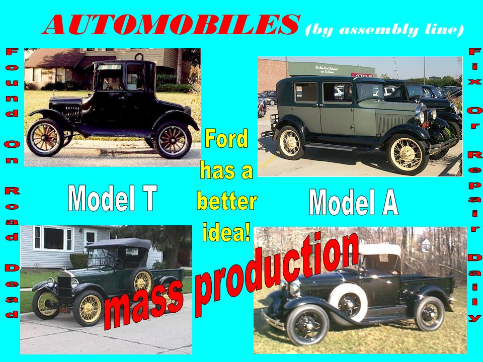 AUTOMOBILES (by assembly line)