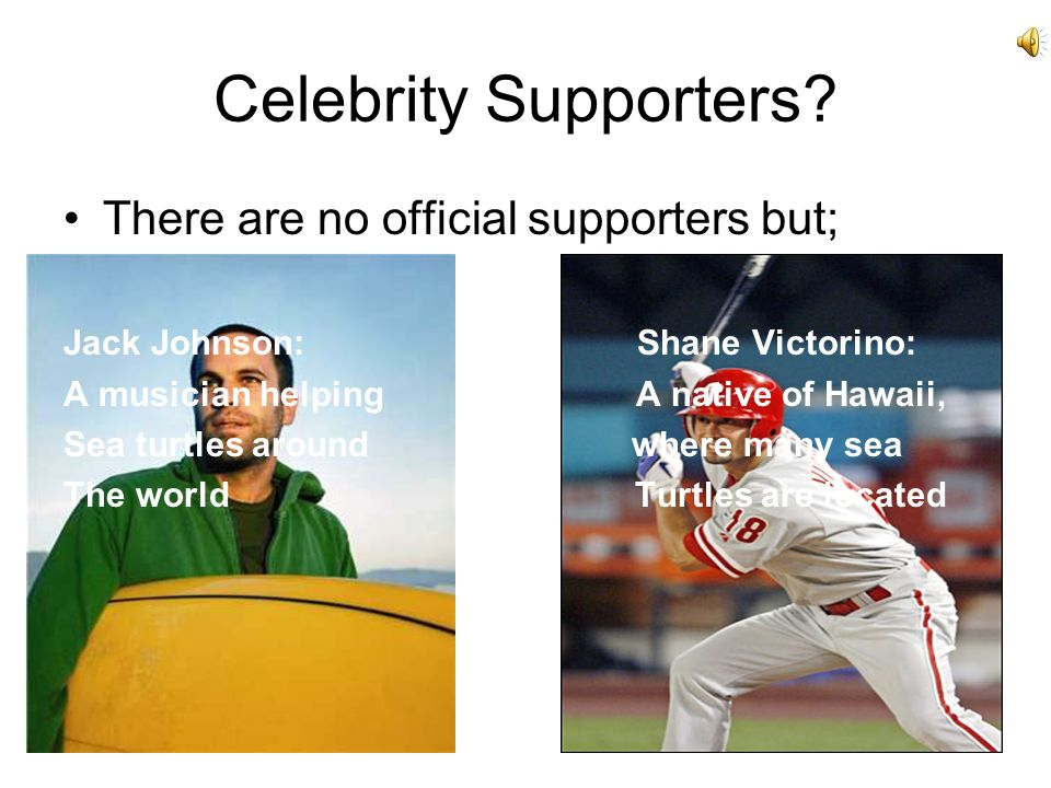Celebrity Supporters.