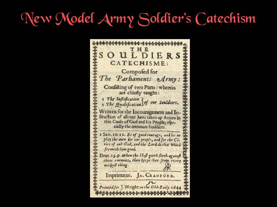 New Model Army Soldiers Catechism