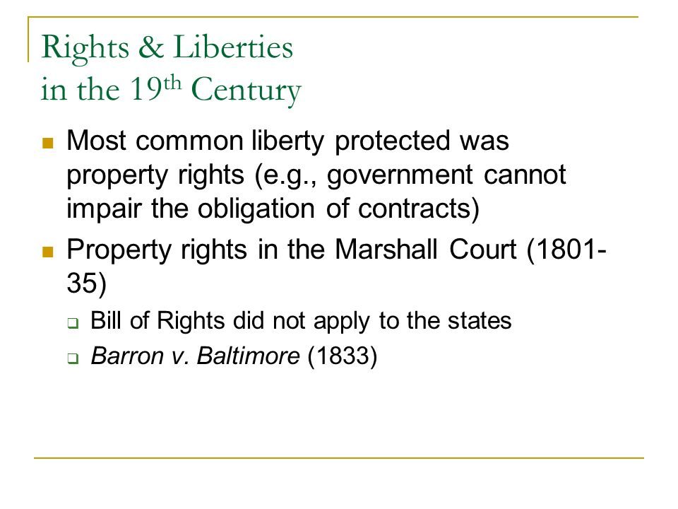 20 th Century Changes Implied rights Privacy: Griswold v.