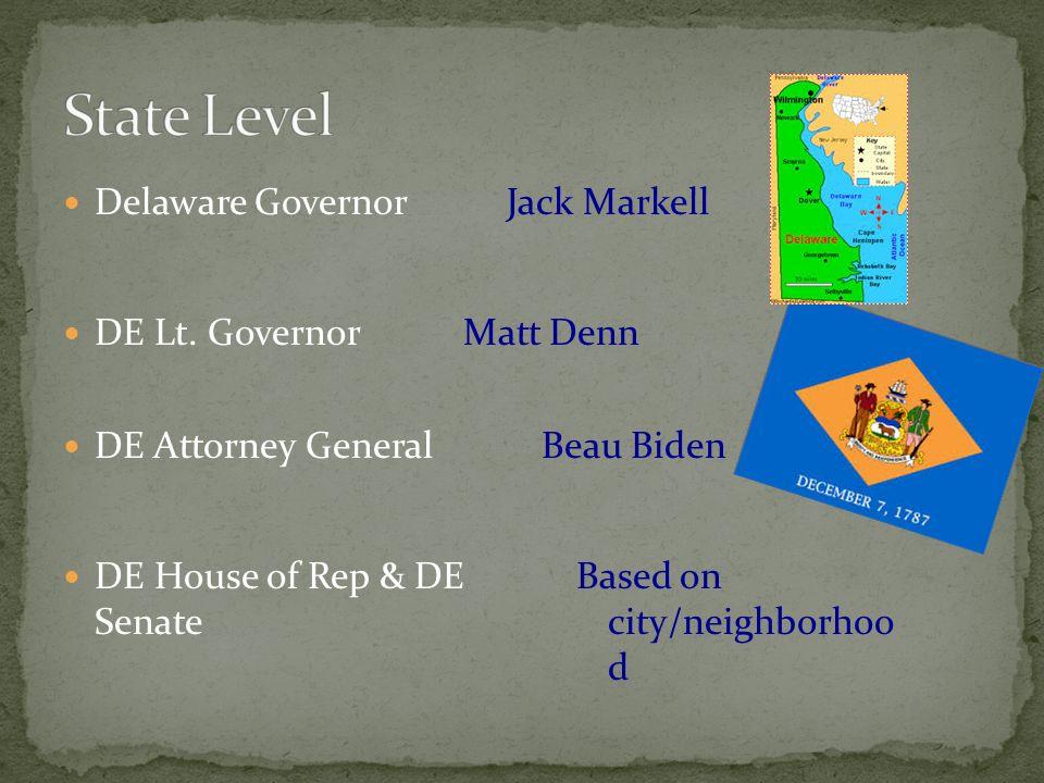 Delaware Governor DE Lt.