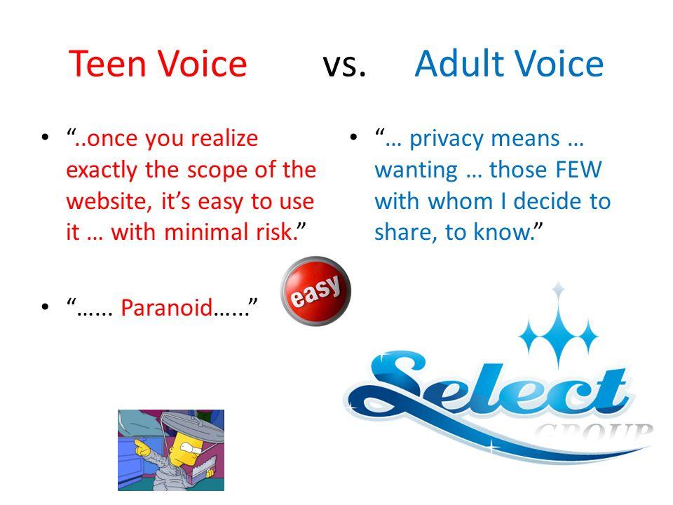 Teen Voice vs.