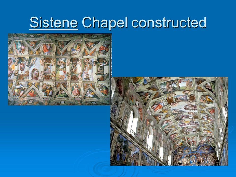 Sistene Chapel constructed