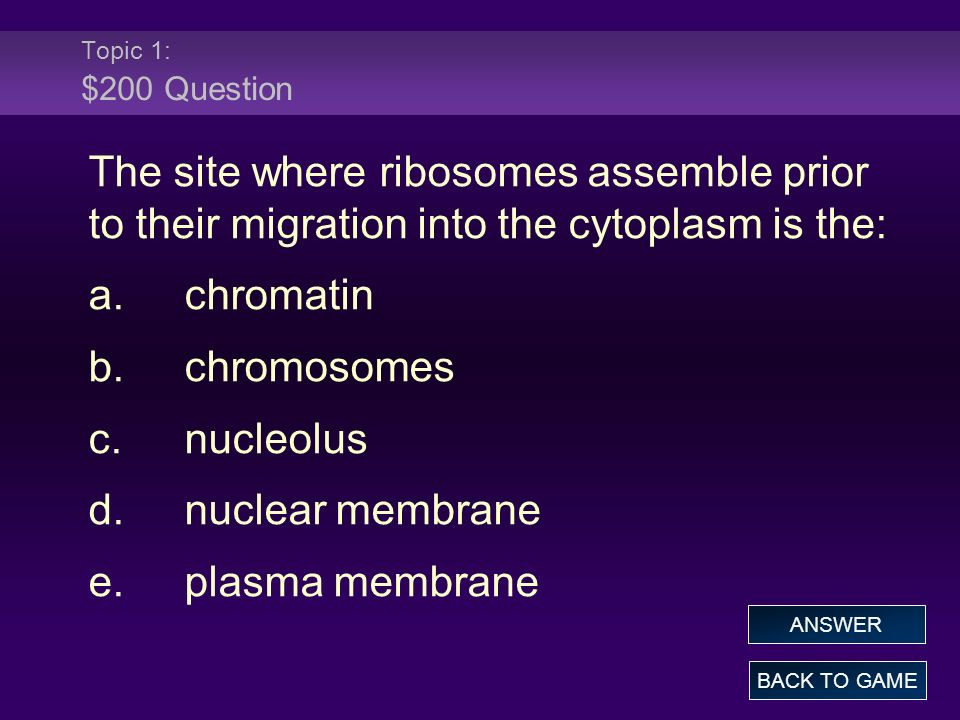 Topic 3: $200 Answer The correct order of phases of the cell cycle is: a.prophase, interphase, metaphase, anaphase, telophase b.prophase, metaphase, anaphase, telophase c.metaphase, anaphase, prophase, telophase d.telophase, metaphase, anaphase, prophase e.interphase, prophase, metaphase, anaphase, telophase BACK TO GAME