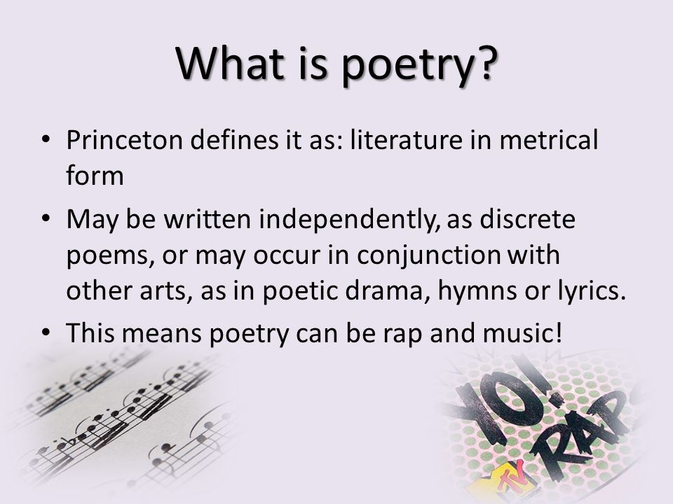 What is poetry.