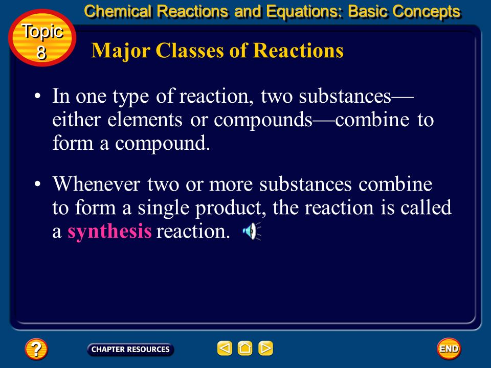 Major Classes of Reactions If you can classify a reaction into one of five major categories by recognizing patterns that occur, you already know a lot
