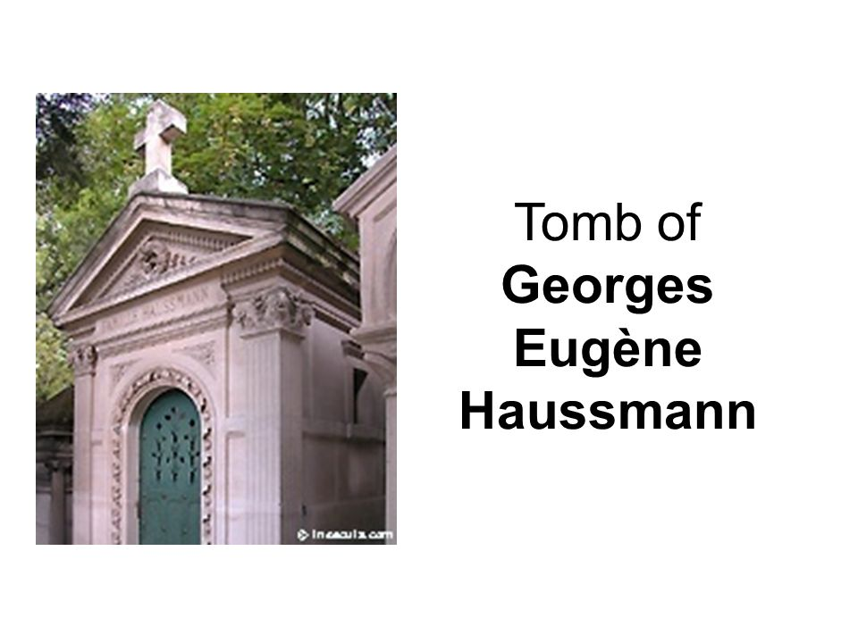 Tomb of Georges Eugène Haussmann