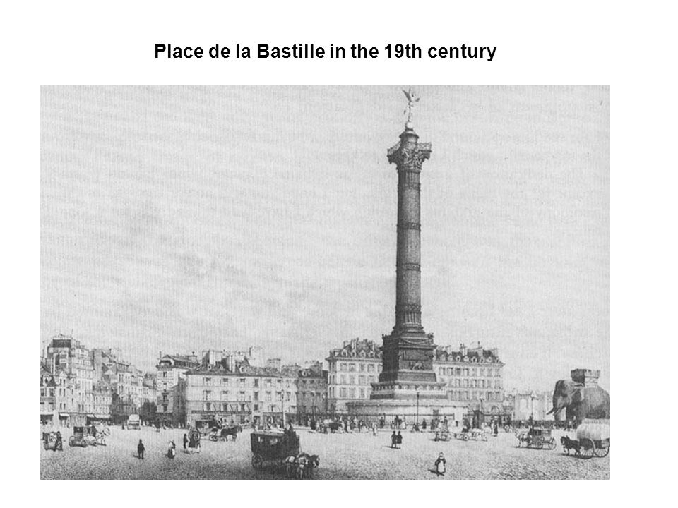 Place de la Bastille in the 19th century