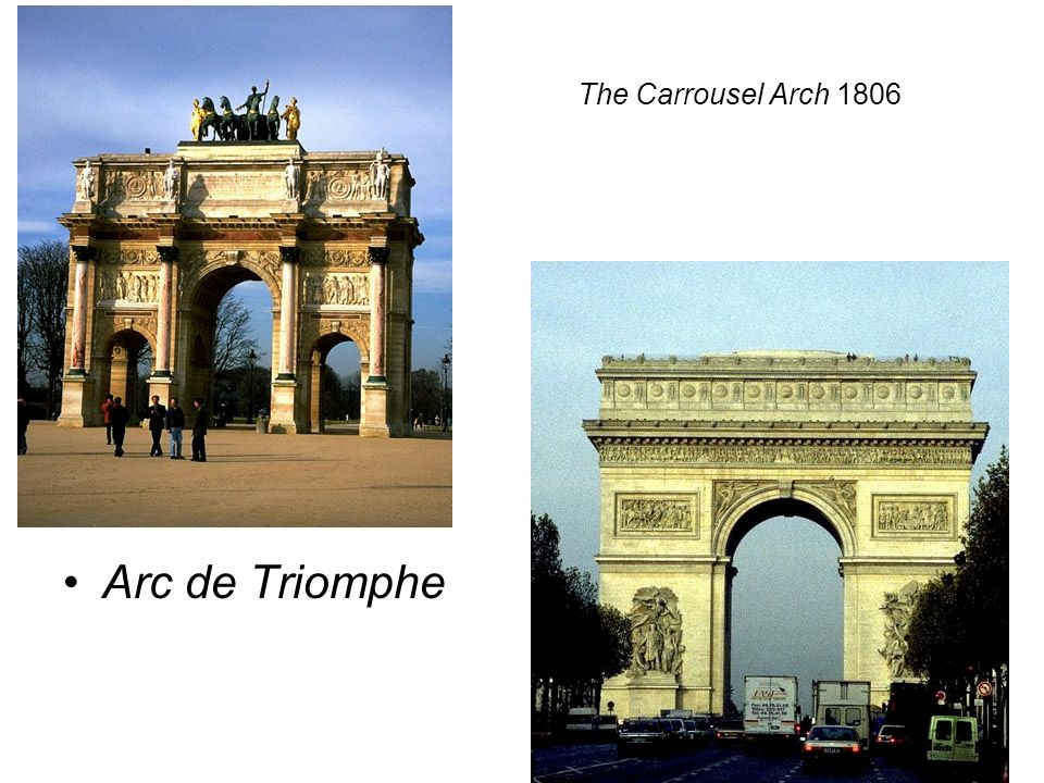 The Carrousel Arch 1806 Arc de Triomphe