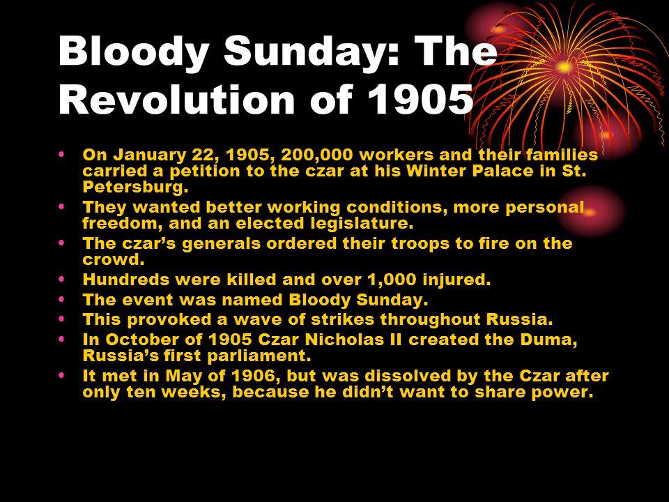 World War I: The Final Blow In 1914 Czar Nicholas II ordered Russia into World War I.