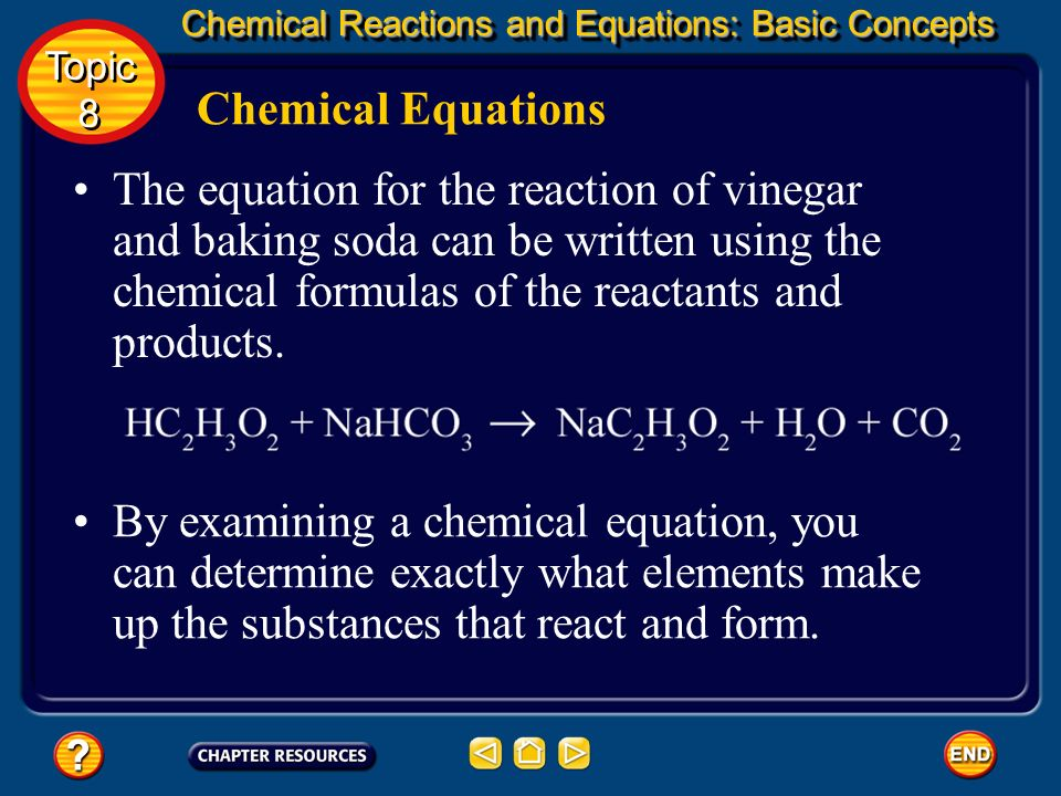 Chemical Equations Word equations describe reactants and products, but they are long and awkward and do not adequately identify the substances involve