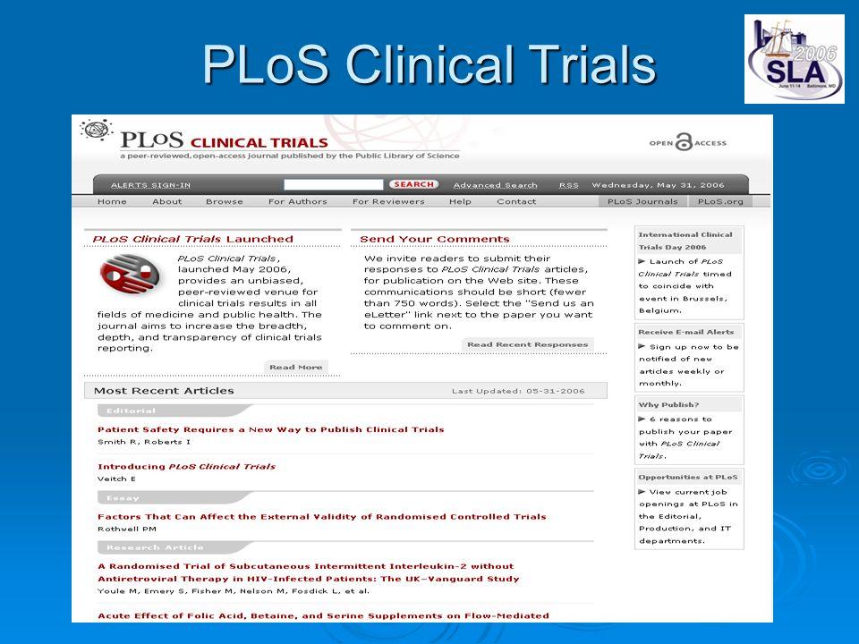 PLoS Clinical Trials