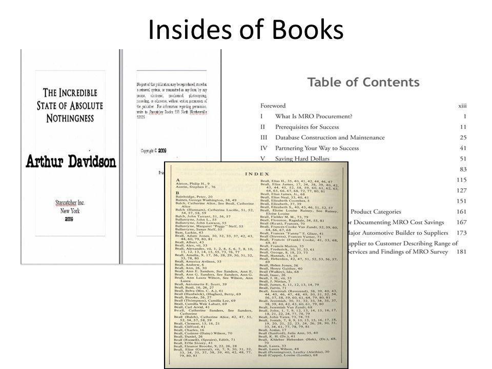 Insides of Books