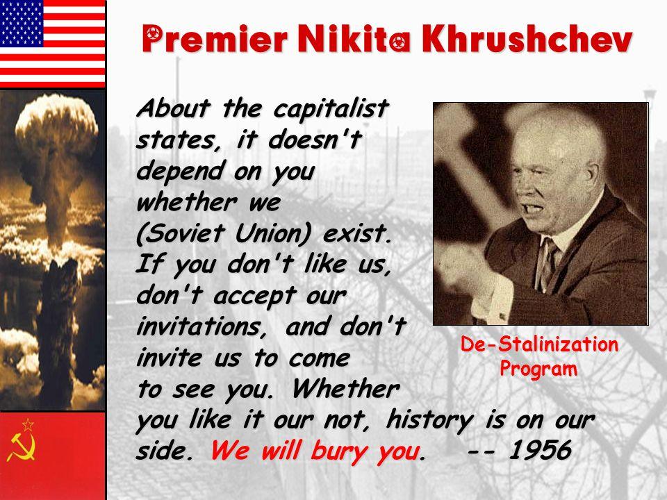 Increasing Cold War Tensions, 1950s – early 1960s 1949: Chinese Revolution 1949: Soviets get atomic bomb 1950-53: Korean War 1959: Sputnik 1960: U-2 i
