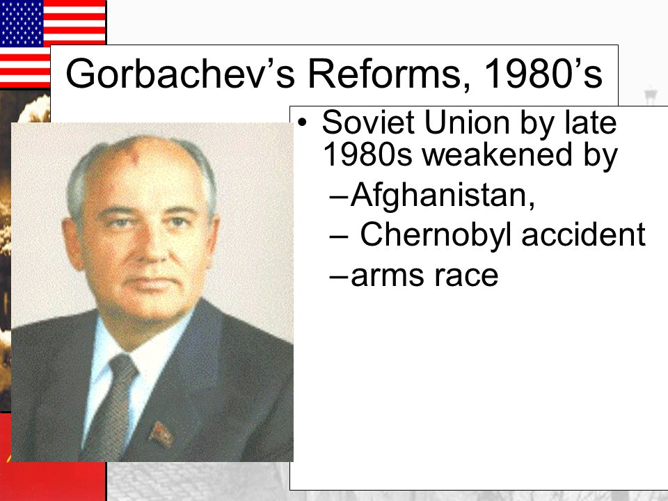 Soviet Union to 1985 The country went through a social rev while Brezhnev slept. –Growth of cities=sophistication, education, job skills (not peasants