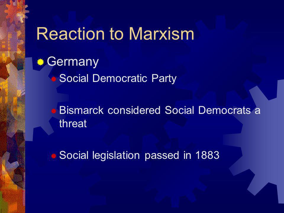Reaction to Marxism France Marxism a great influence on French labor movements French workers resorted to strikes