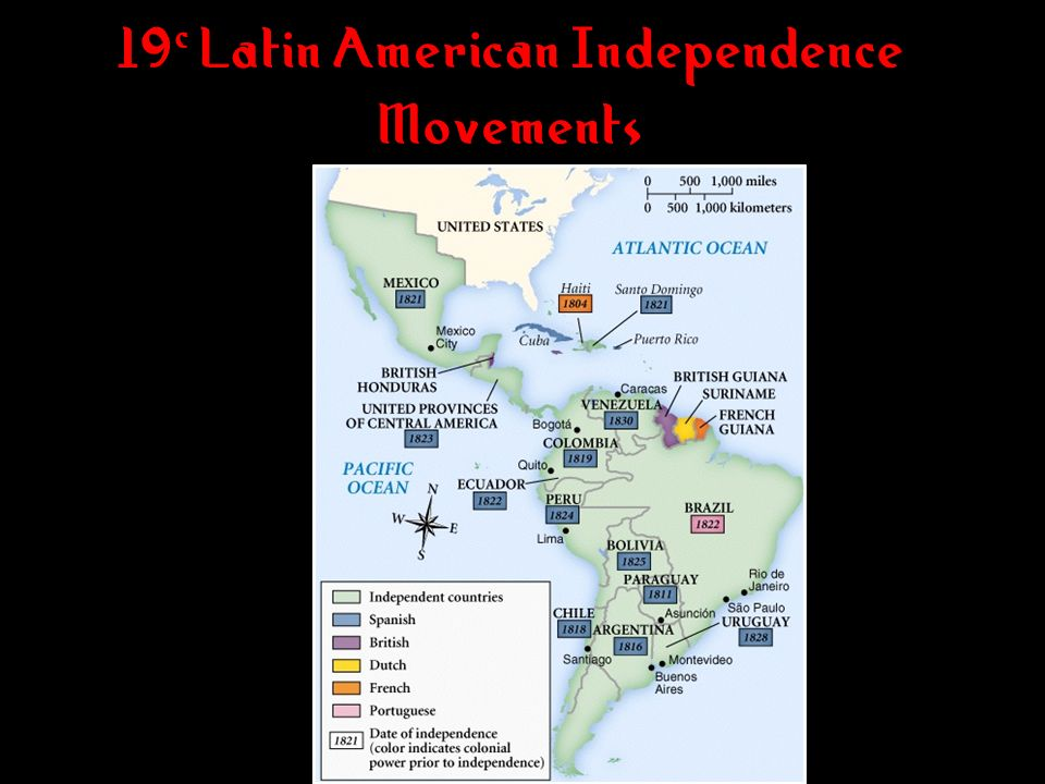 19 c Latin American Independence Movements