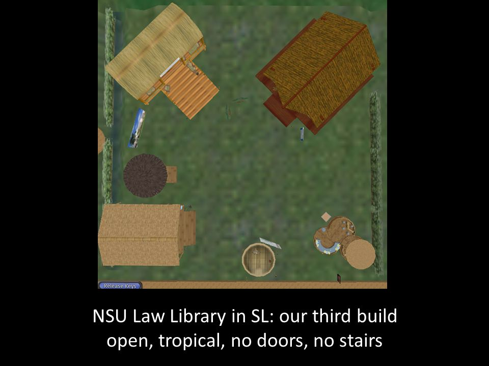 NSU Law Library in SL: our third build open, tropical, no doors, no stairs