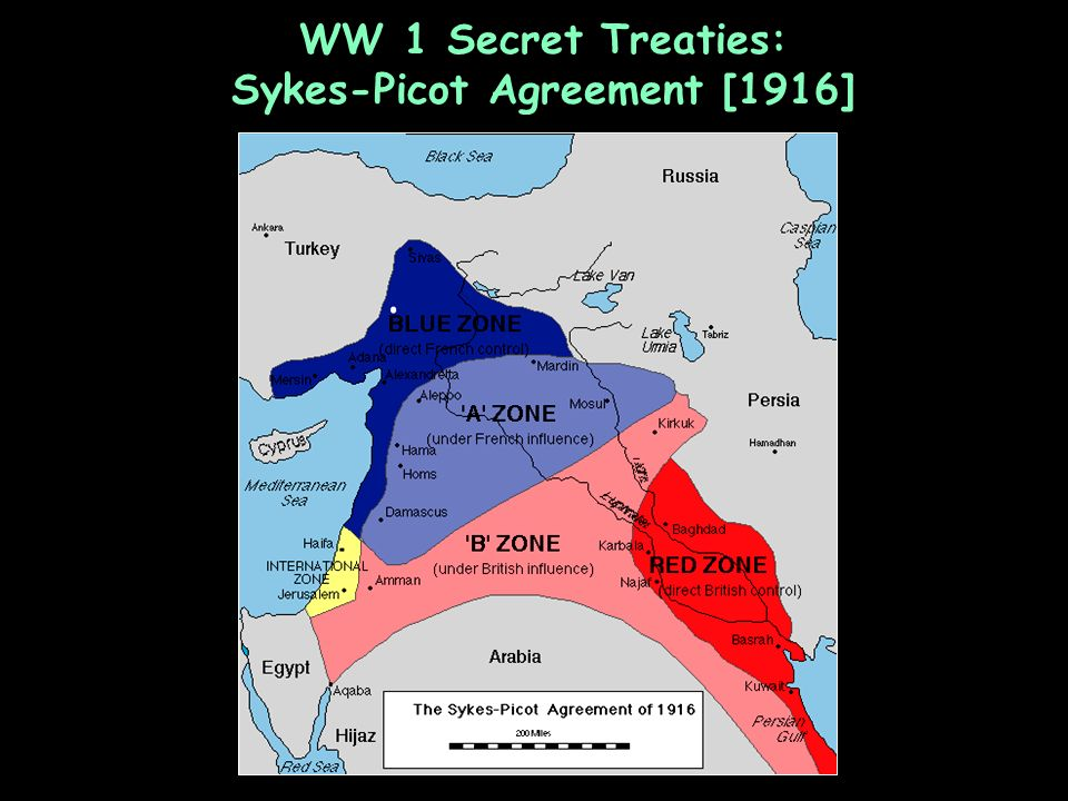 WW 1 Secret Treaties: Sykes-Picot Agreement [1916]