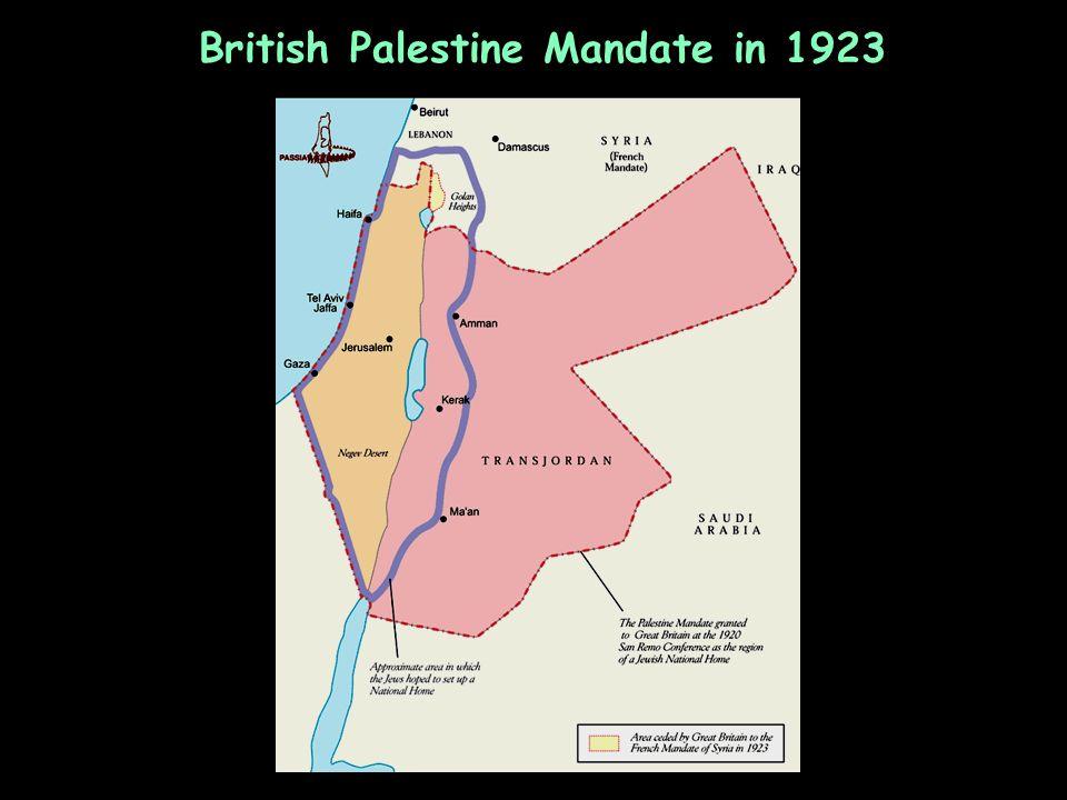 British Palestine Mandate in 1923