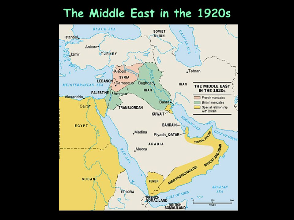 The Middle East in the 1920s