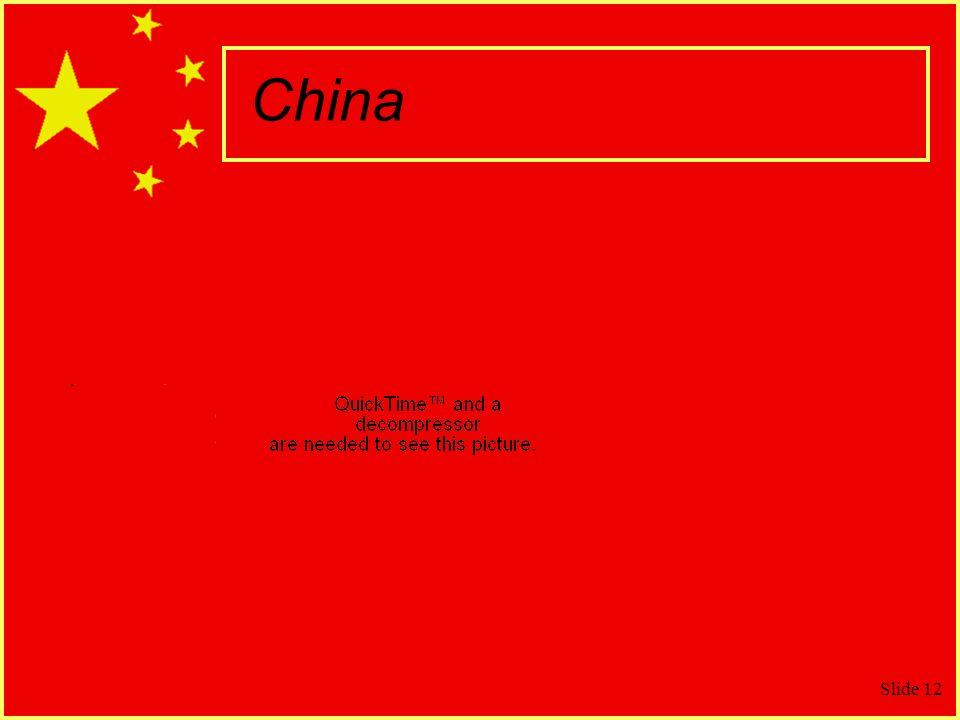 Slide 12 China