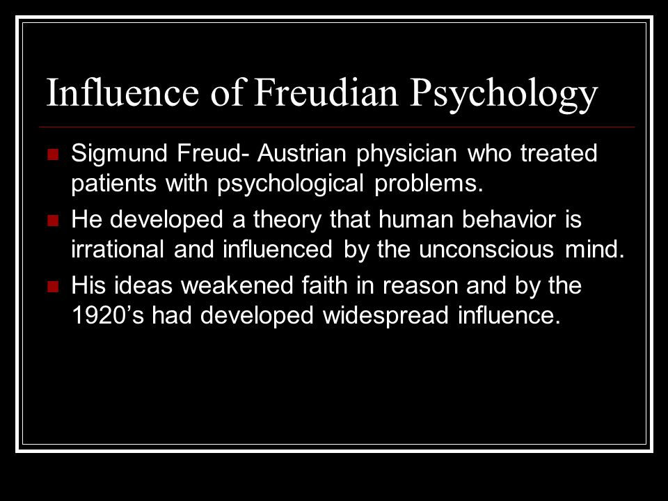 an essay on sigmund freud and the psychology theories