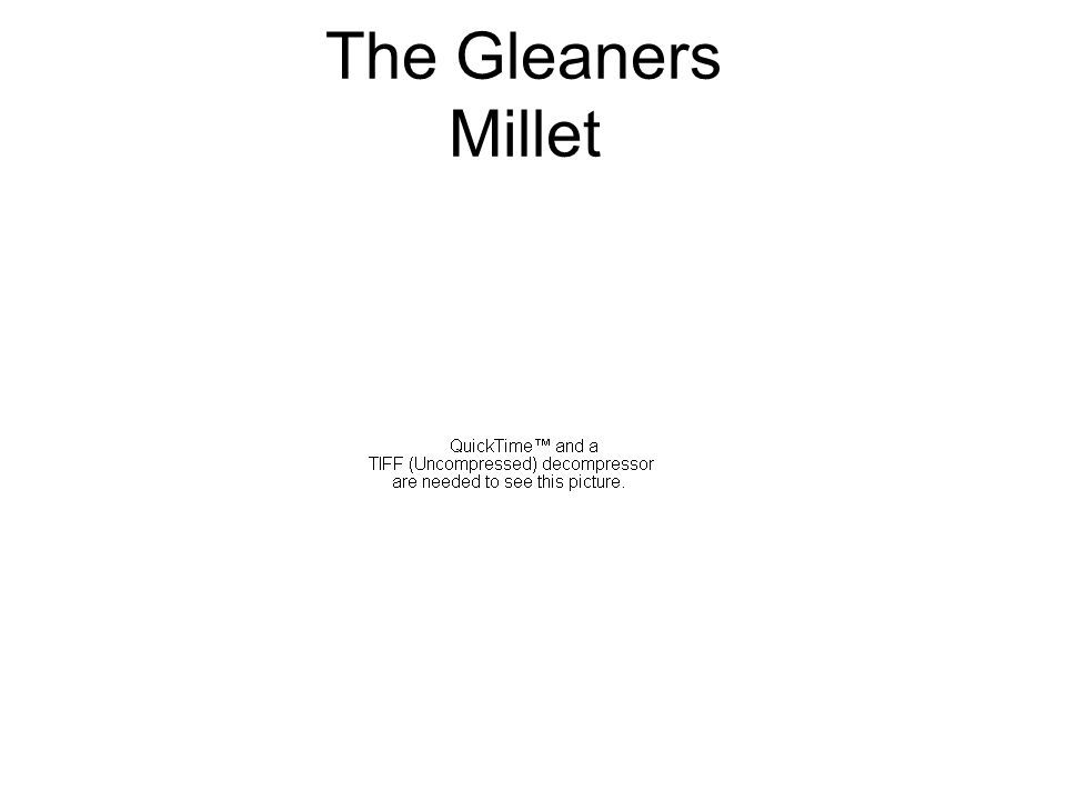 The Gleaners Millet