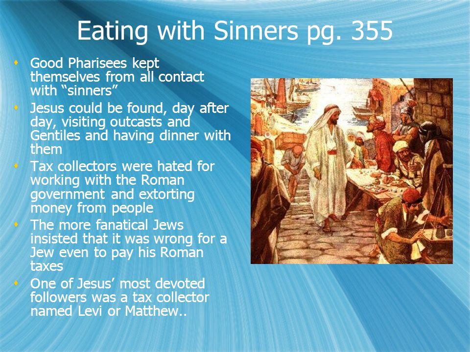 Eating with Sinners pg.