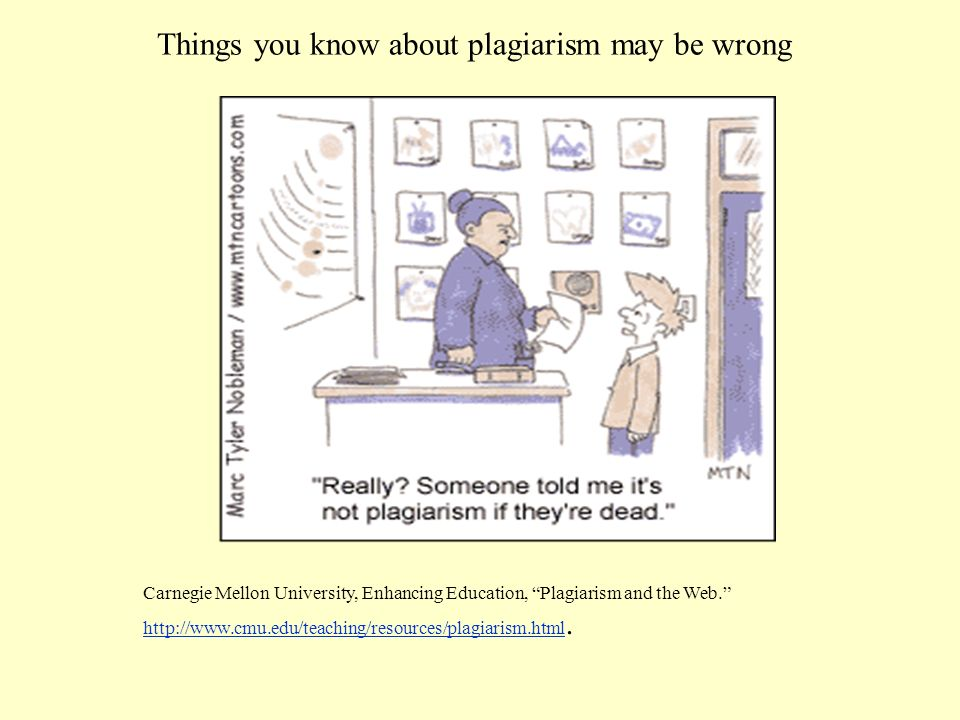 Why should you not plagiarize.