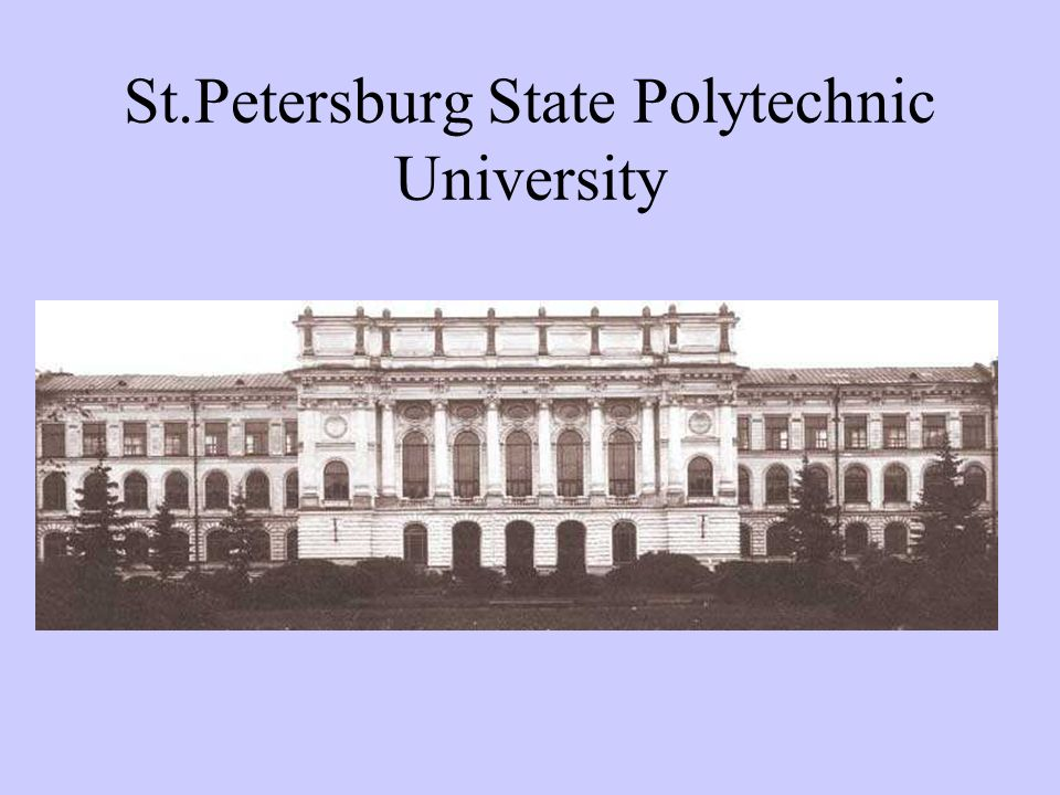St.Petersburg State Polytechnic University