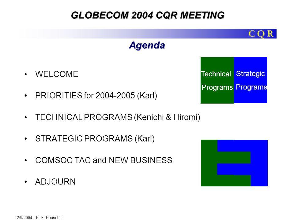 C Q R GLOBECOM 2004 CQR MEETING 12/9/2004 - K.F.
