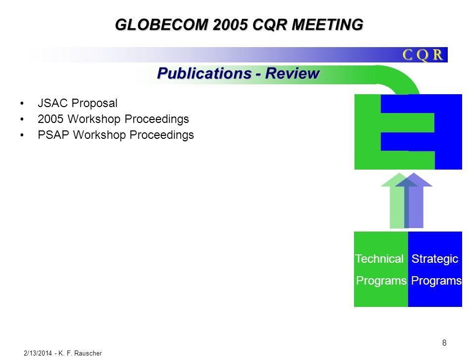 C Q R GLOBECOM 2005 CQR MEETING 2/13/2014 - K. F.