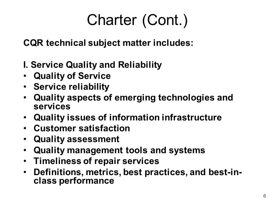 7 Charter (Cont.) II.