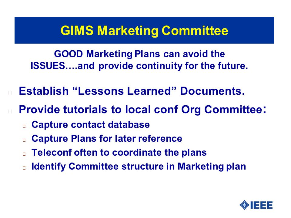 If the ITPC can do it …so can GMIS